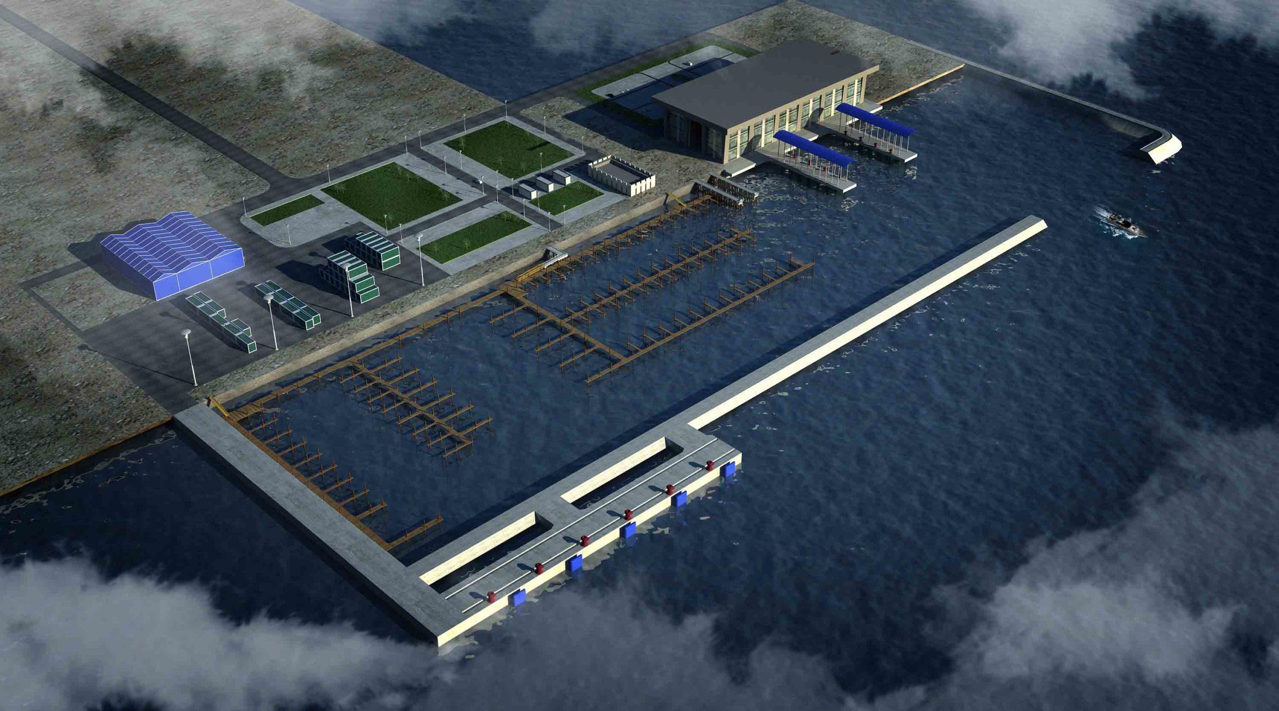 深圳码头施工动画模拟